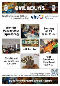 Spieletag 2020 des Spielklubs Papenburg